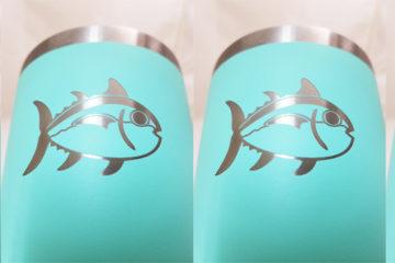 Engraved Seafoam Yeti Cups